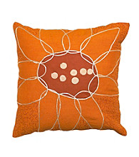 Surya Large Flower Decorative Pillows
