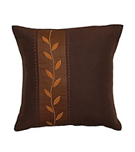 Surya Chocolate & Orange Autumn Leaf Decorative Pillow