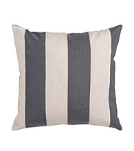 Surya Grey & Ivory Thick Stripe Decorative Pillow