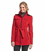 London Fog® Belted Softshell Coat