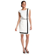 Calvin Klein Contrast Frame Sheath Dress