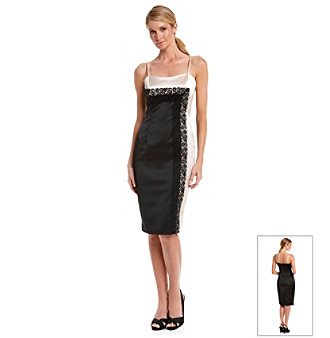 Maggy London® Lace and Satin Cocktail Dress