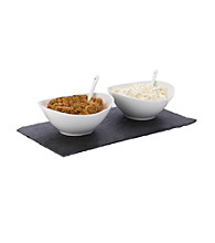 Maxwell & Williams White Basics Slate 5-pc. Rectangular Dipping Set
