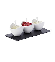 Maxwell & Williams White Basics Slate 7-pc. Rectangular Dipping Set