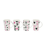 Maxwell & Williams Pussy Cat, Pussy Cat 4-pc. Mug Set