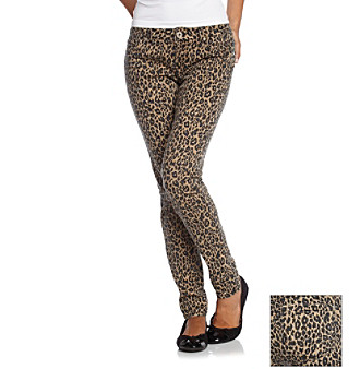 "Fire® 31"" Animal Natural Cheetah 5-Pocket Basic Skinny Jeans"