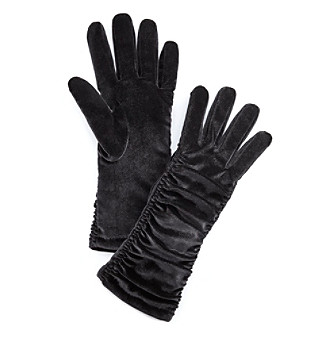 Cejon® Velvet Rouched Gloves - Black