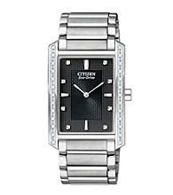 Citizen® Mens Eco Drive Two Tone Palidoro Diamond Watch