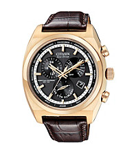 Citizen® Eco Drive Mens Rose Goldtone Calibre 8700 Perpetual Calendar Watch