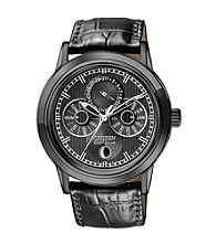 Citizen® Eco Drive Mens Calibre 8651 Moonphase Black Ion Plated Watch