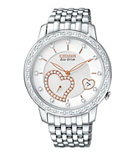 Citizen® Silvertone Eco-Drive Women's Desire Diamond Watch