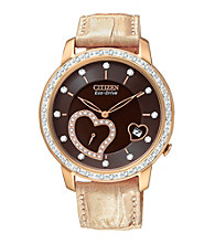 Citizen® Rose Goldtone Eco-Drive Women's Desire Diamond Watch