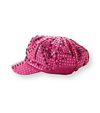 Miss Attitude Girls' Fuschia Sequin Hat