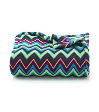 LivingQuarters Zig Zag Micro Cozy Throw