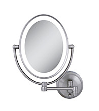 Zadro Next Generation Oval LED Lighted Wall Mount Mirror with 1x & 10x Magnification