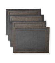 Alyssa Joy Tone-on-Tone Border Woven Set of 4 Place Mats