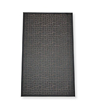 Alyssa Joy Geo Rectangles Woven Vinyl Non-Skid Doormat