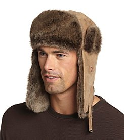 Ruff Hewn Men's Faux Suede Trapper Hat