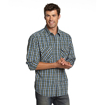Ruff Hewn Men's Military Olive Poplin Buttondown Shirt