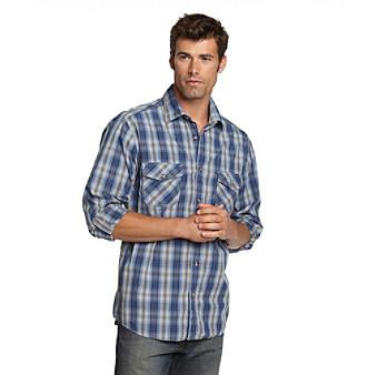 Ruff Hewn Men's Poplin Buttondown Shirt with Roll-Tab Sleeves