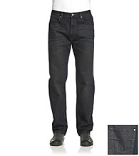 Ruff Hewn Men's Dark Indigo Wash 5-Pocket Straight-Leg Jeans