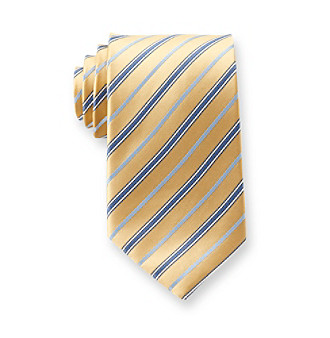 Geoffrey Beene® Men's Yellow Stripe Degrazia Tie