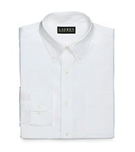 Lauren® Men's White Pinpoint Dress Shirt