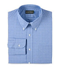 Lauren® Men's Blue Plaid Broadcloth Dress Shirt