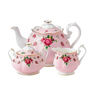 Royal Albert® New Country Rose Pink 3-pc. Tea Set