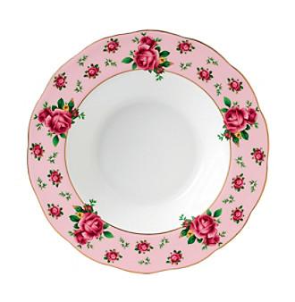 Royal Albert® New Country Roses Pink Vintage Rimmed Soup or Salad Bowl