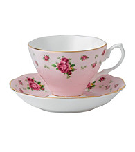 Royal Albert® New Country Roses Pink Vintage Teacup and Saucer Boxed Set