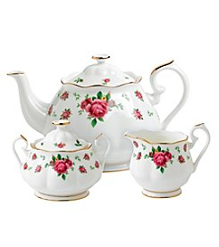 Royal Albert® New Country Roses White 3-pc. Tea Set
