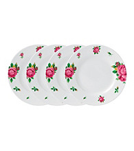 Royal Albert® New Country Roses White Modern Casual Set of 4 Bread and Butter Plates