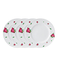 Royal Albert® New Country Roses White Modern Casual Set of 4 Dinner Plates
