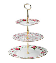 Royal Albert® New Country Roses White Vintage 3-Tier Cake Stand