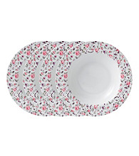 Royal Albert® Rose Confetti Casual Set of 4 Rimmed Soup or Salad Bowl