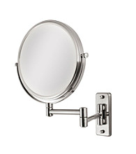 Zadro Dual Sided Non-Lighted Wall Mount Mirror with 1x & 5x Magnification
