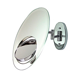 Zadro Tri-Optics Non-Lighted Wall Mount Mirror with 1x, 5x & 7x Magnification