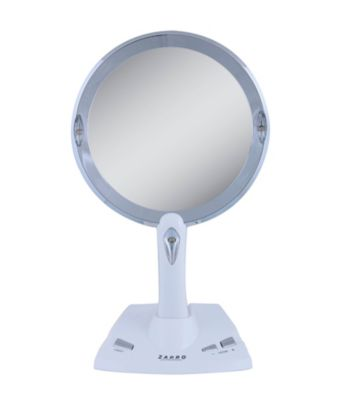 Vanity Lighted Mirror Wall Mount : Zadro LED Lighted Vanity/Wall Mount Power Zoom Mirror with 1x-5x Magnification Younkers