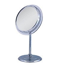 Zadro Single Sided Surround Light Pedestal Vanity Mirror with 7x Magnification