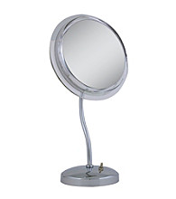 Zadro S-Neck Surround Light Vanity Mirror with 6x Magnification