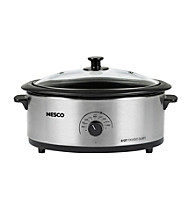 Nesco® 6-qt. Silver Roaster Oven with Glass Cover & Porcelain Cookwell