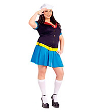 Ms. Popeye Adult Plus Costume