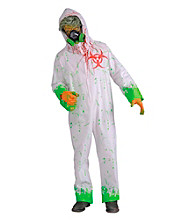 Biohazard Zombie White Jumpsuit Adult Costume