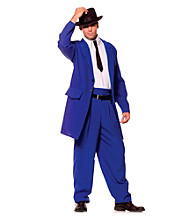 Zoot Suit Blue Adult Costume