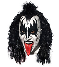 KISS Demon Deluxe Latex Adult Full Mask With Hair