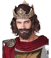 Medieval King Brown Adult Wig