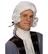 Men's Colonial White Adult Wig