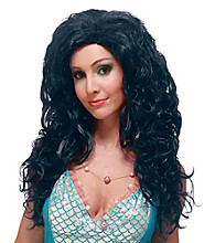 Aqua Bella Black Adult Wig