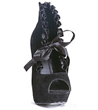 Black Velvet Peep-Toe Adult Boots